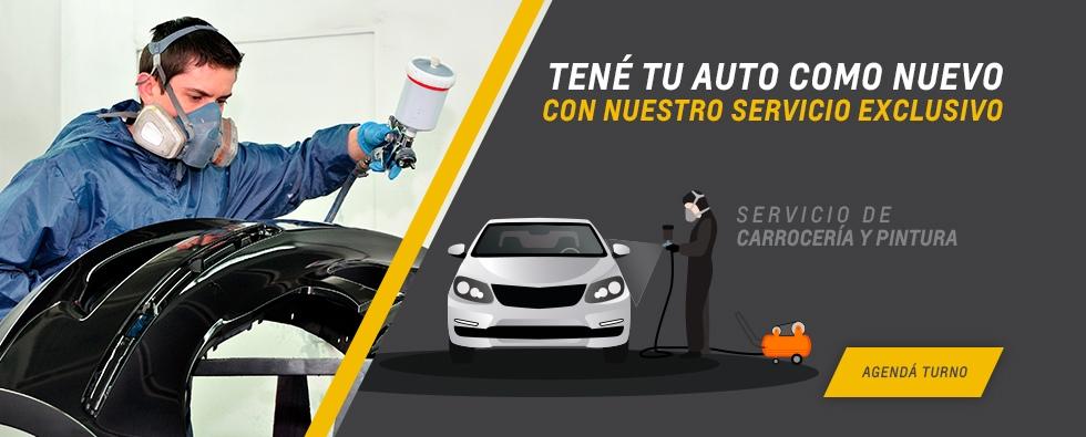 Chevrolet Servicio de carrocería y pintura en Córdoba