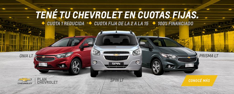 Plan Chevrolet 15 cuotas fijas en RPM
