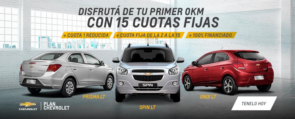 Chevrolet Plan 15 cuotas en RPM