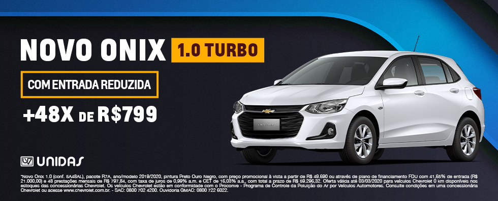 Novo Onix 1.0 Turbo