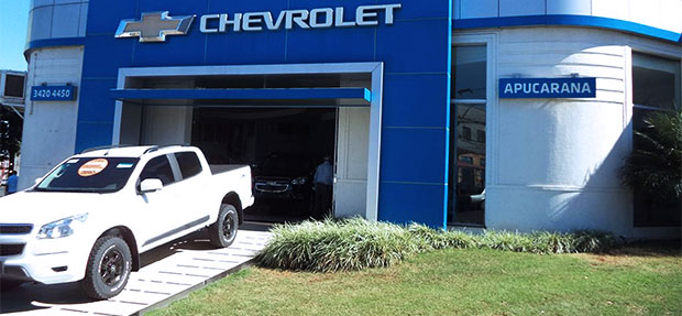 Fachada concessionária Chevrolet Apucarana.