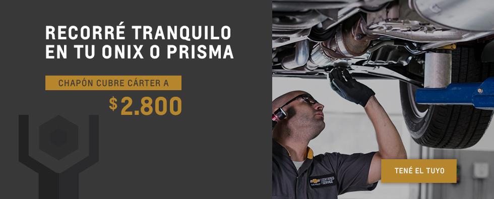 Chapón cubre carter de Onix y Prisma - Repuestos Originales Chevrolet en Ezeiza y Cañuelas