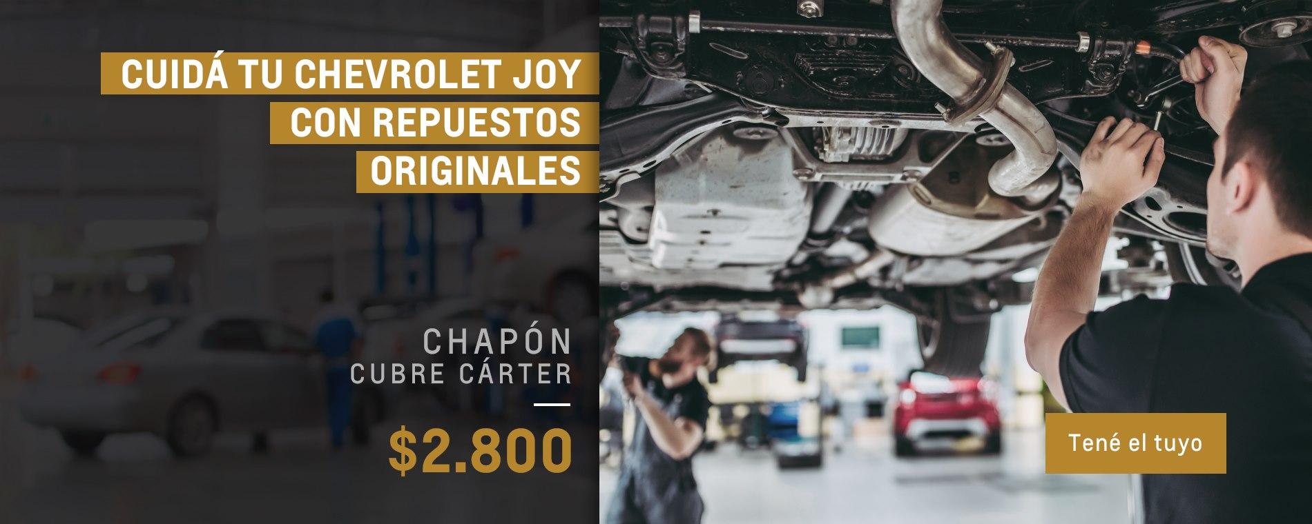 Chapón cubre carter para Chevrolet Joy