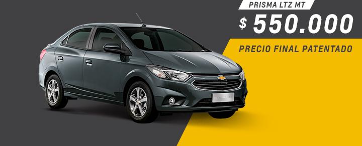 Precio exclusivo para Chevrolet Prisma patentado en Ciudadela