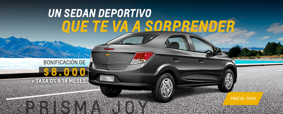 Oferta en Chevrolet Prisma Joy +