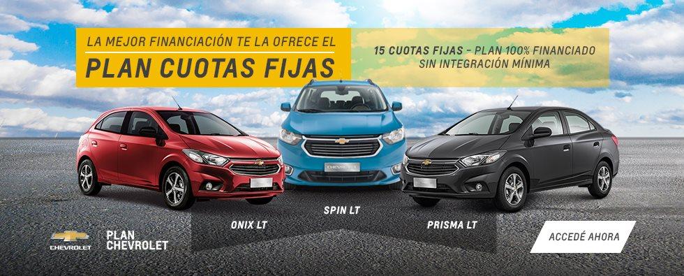 Plan Chevrolet 15 Meses de Cuotas Fijas