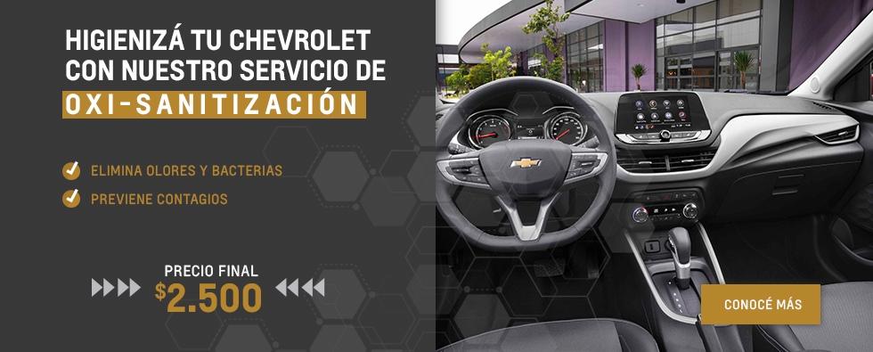 Servicio exclusivo de Oxi-Sanitización en Chevrolet Akar