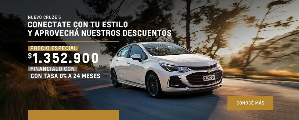 Chevrolet Cruze 5 con precio exclusivo
