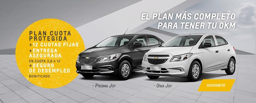 Subite a tu Onix Joy o Prisma Joy con el nuevo Plan Chevrolet Cuota Protegida en Akar
