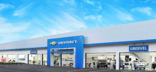 Fachada concessionária Chevrolet Ubervel