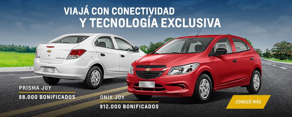 Oferta en Chevrolet Onix Joy y Prisma Joy