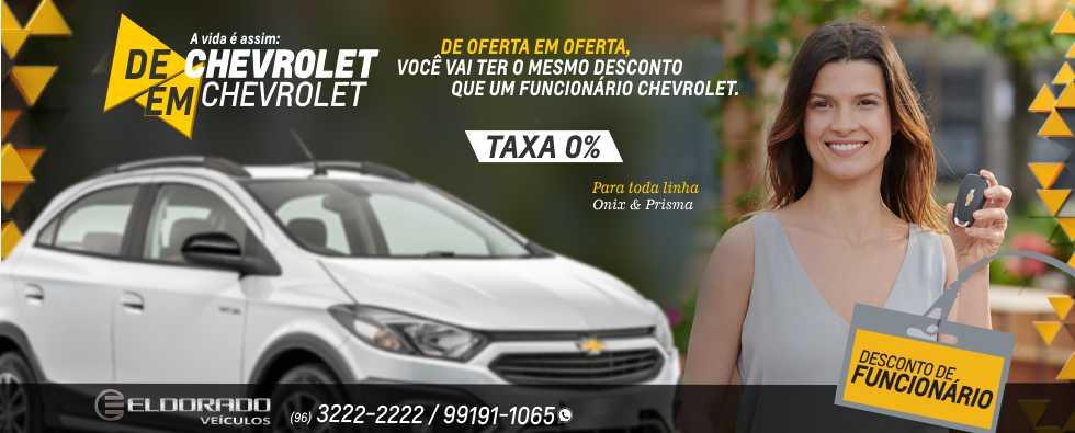 DESCONTO DE FUNCIONÁRIO CHEVROLET