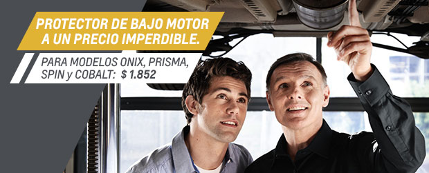 Protector bajo motor Chevrolet