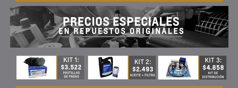 Kit de repuestos originales Chevrolet en Río Gallegos