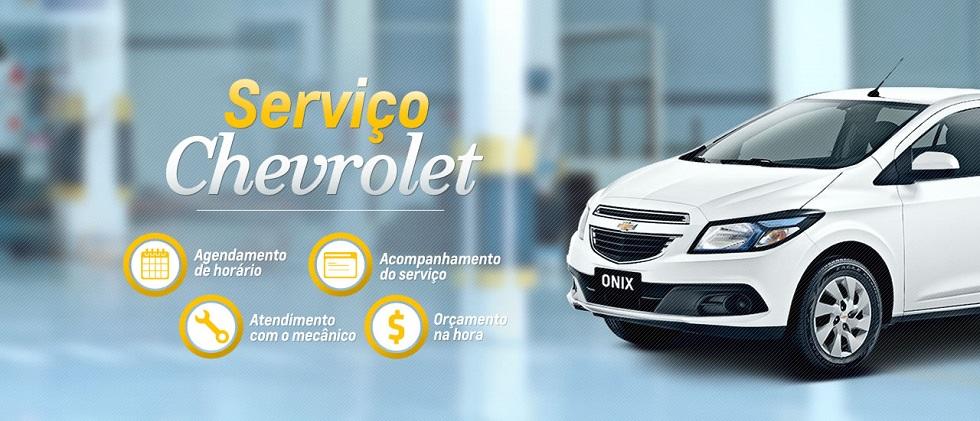 Serviços de manutenção e reparo para revisão de carros na concessionária Chevrolet CVG