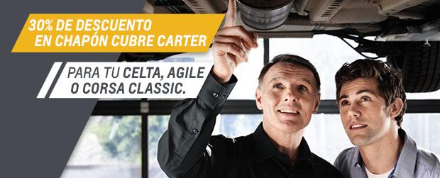 Oferta en chapón cubre carter - Chevrolet Federico Lacasa Automotores