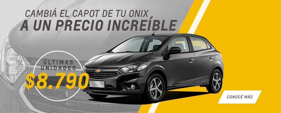Cambiá el capot de tu Chevrolet Onix en Federico Lacasa Automotores