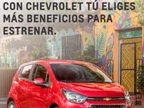 Con Chevrolet tú eliges más beneficios para Estrenar