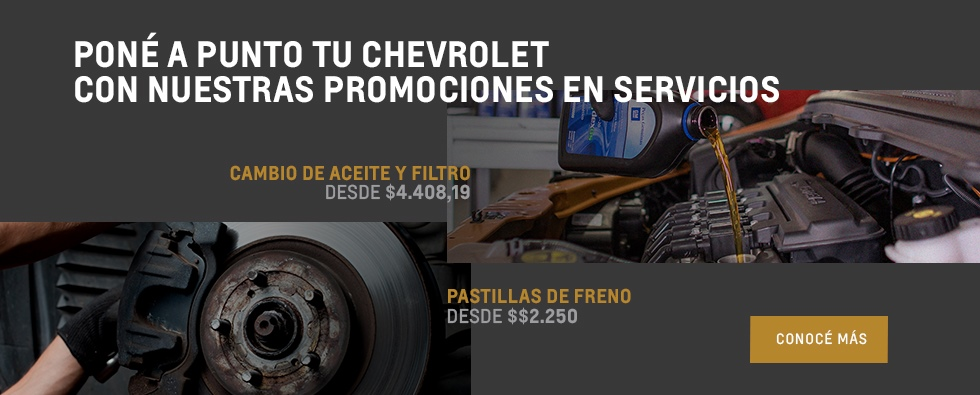 Cambio de Aceite y Filtro- Pastillas de Freno- Servicios- Concesionario Oficial Chevrolet , Mendoza