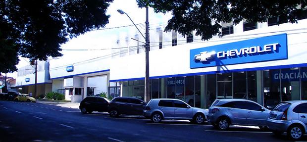 Fachada concessionária Chevrolet Graciano