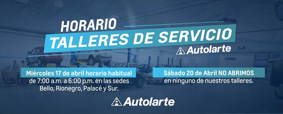 Horario taller_Autolarte