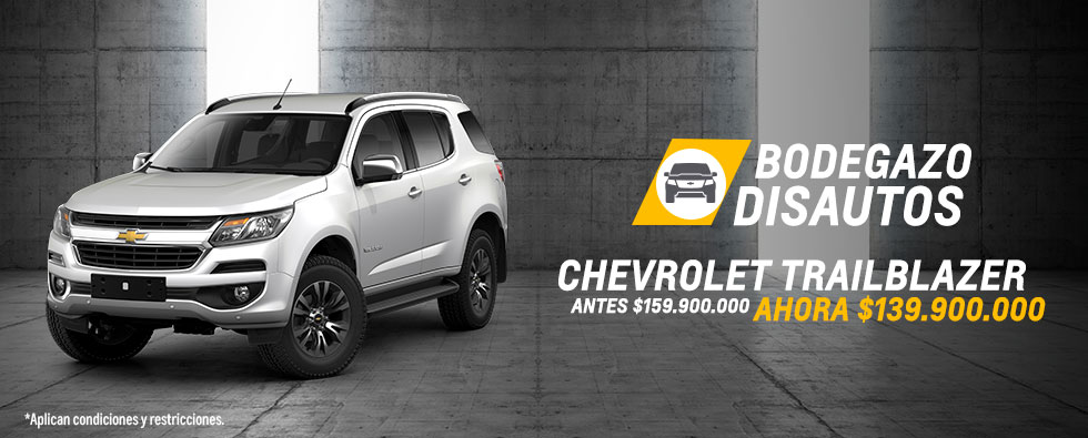 Lleva tu Chevrolet Trailblazer con 20 millones de descuento