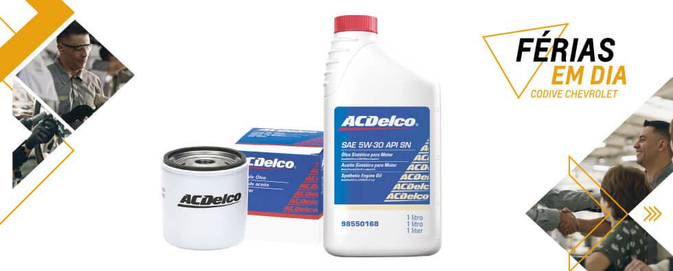 Produtos ACDelco utilizados na Troca de Óleo e Filtro de Óleo na concessionária Codive