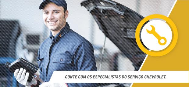 Serviços de manutenção e reparo para revisão de carros na concessionária Chevrolet Codive