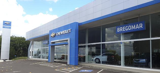 Fachada concessionária Chevrolet Bregomar