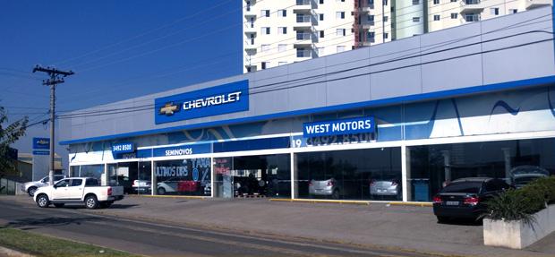 Fachada concessionária Chevrolet West Motors Capivari