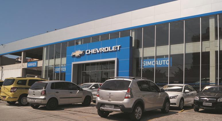 Fachada concessionária Chevrolet Simcauto Cascadura