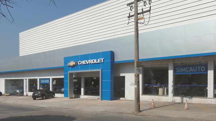 Fachada concessionária Chevrolet Simcauto