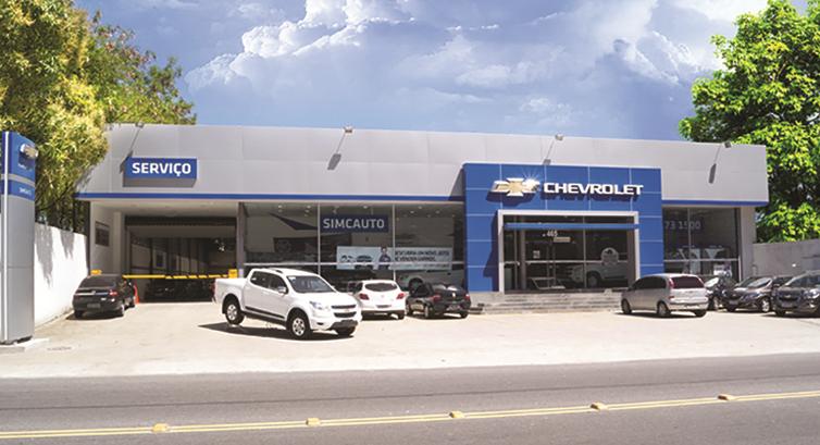Fachada concessionária Chevrolet Simcauto Barra da Tijuca