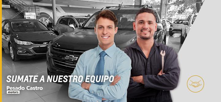 Trabajá con nosotros en Chevrolet Pesado Castro Motors