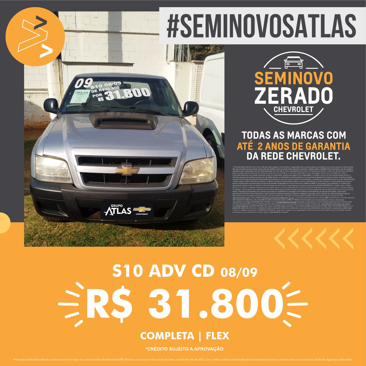 CHEVROLET S10 ADVANTAGE 2.2 2009