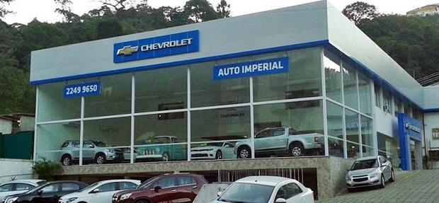 Fachada concessionária Chevrolet Auto Imperial Petrópolis