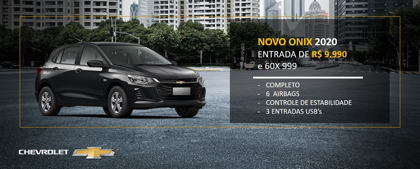 Novo Onix 2020 com Entrada Reduzida - Contorno Chevrolt Aracaju