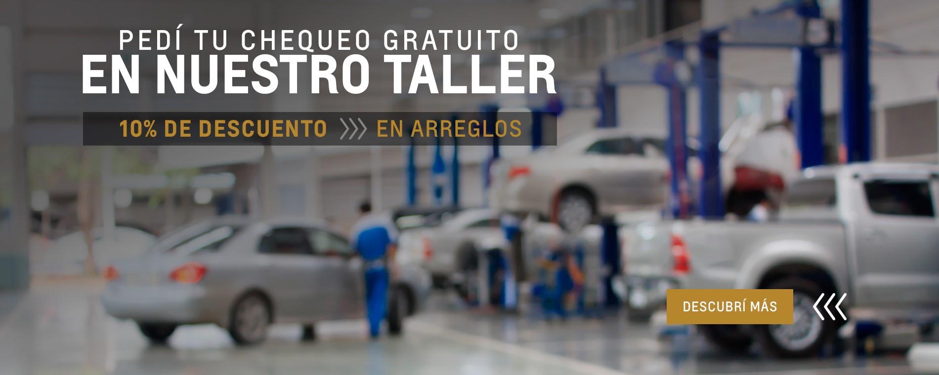 Descuentos en taller oficial Chevrolet en Pergamino, San Nicolas de los Arroyos y Junín