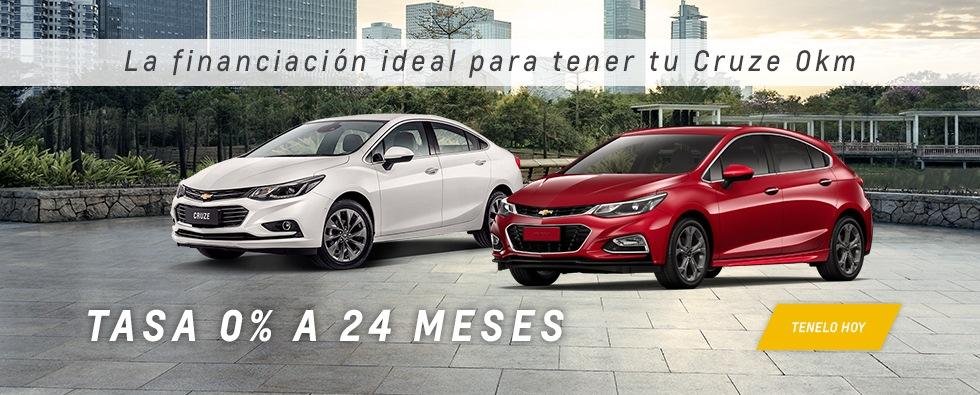 Chevrolet Cruze con Tasa 0 a 24 meses