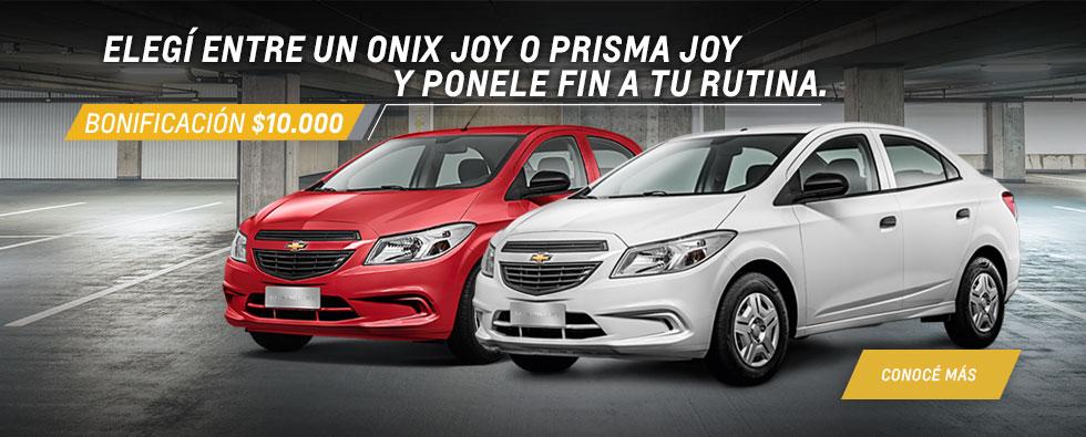 Banner home oferta Onix y Prisma Fortecar