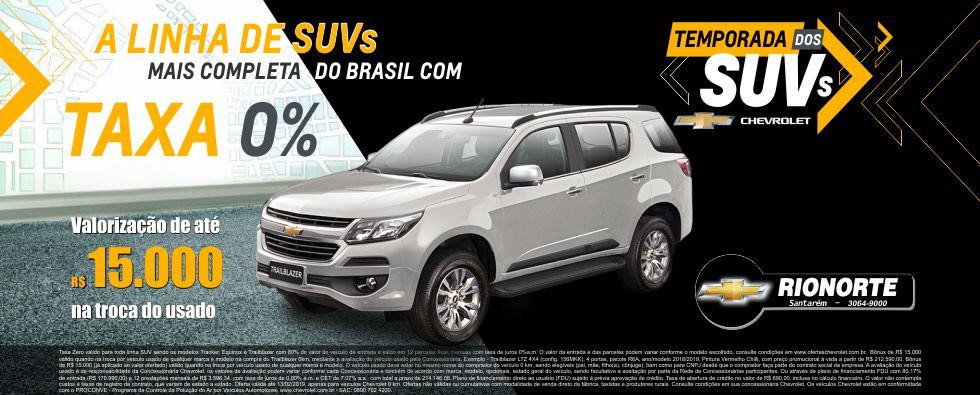 A linha de SUVs mais completa do Brasil com taxa 0% e Bônus de até R$ 15MIL no seu Usado!
