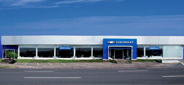 Fachada concessionária Chevrolet Simpala