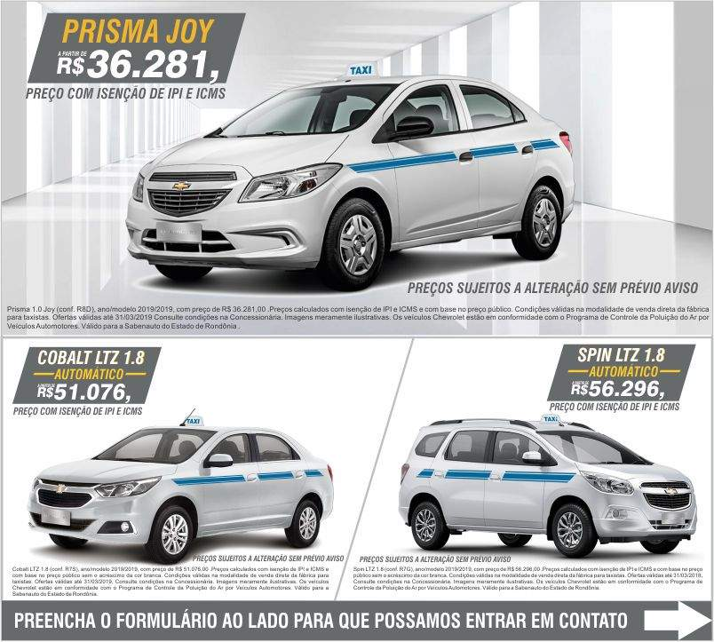 layout site taxista