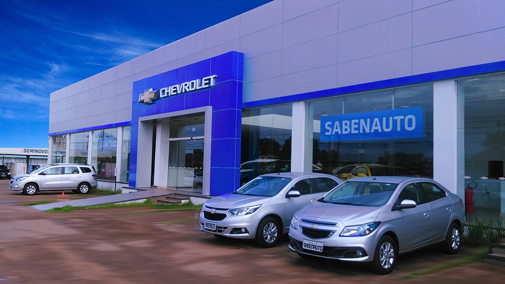 Fachada concessionária Chevrolet Sabenauto Porto Velho