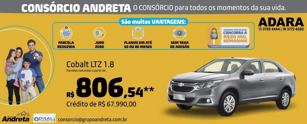 Comprar Chevrolet Cobalt LTZ 1.8 com o Consórcio de carros Andreta da concessionária Adara