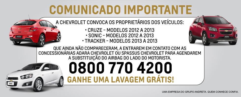 Chevrolet - Digitais Comunicado Pós Vendas (Home Sonic)