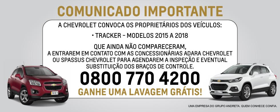 Chevrolet - Digitais Comunicado Pós Vendas (Home Tracker)