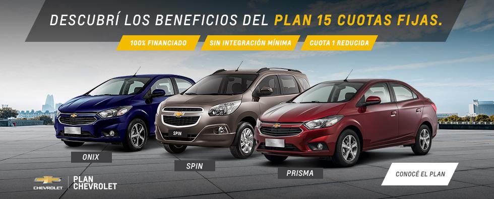 Plan Chevrolet 15 meses de cuota fija en Ramonda Motors