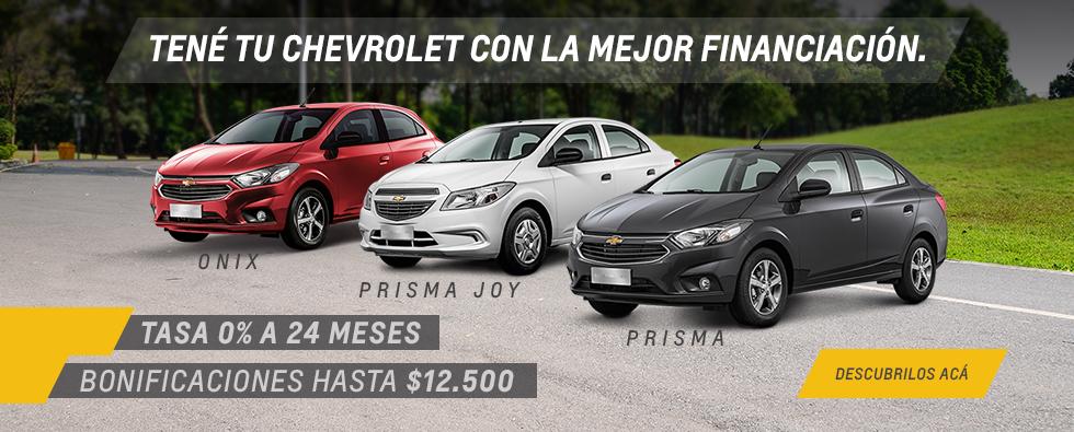 Oferta en Chevrolet Onix, Prisma y Prisma Joy