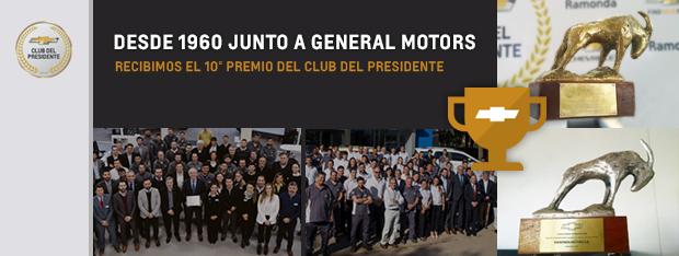 10° premio del club del presidente para Chevrolet Ramonda